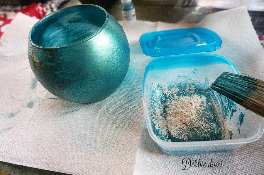 Adding powered pigment