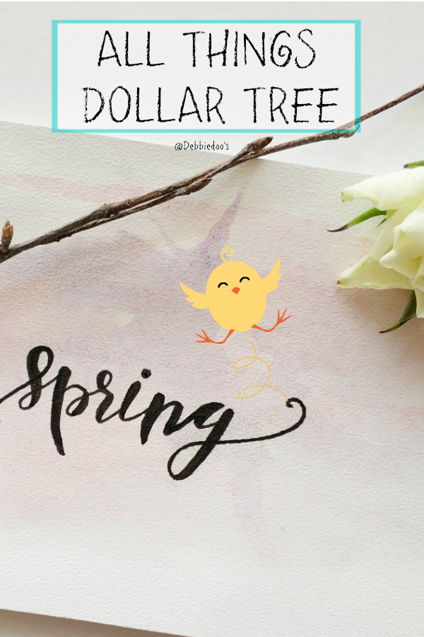 Spring Dollar Tree home decor and craft ideas