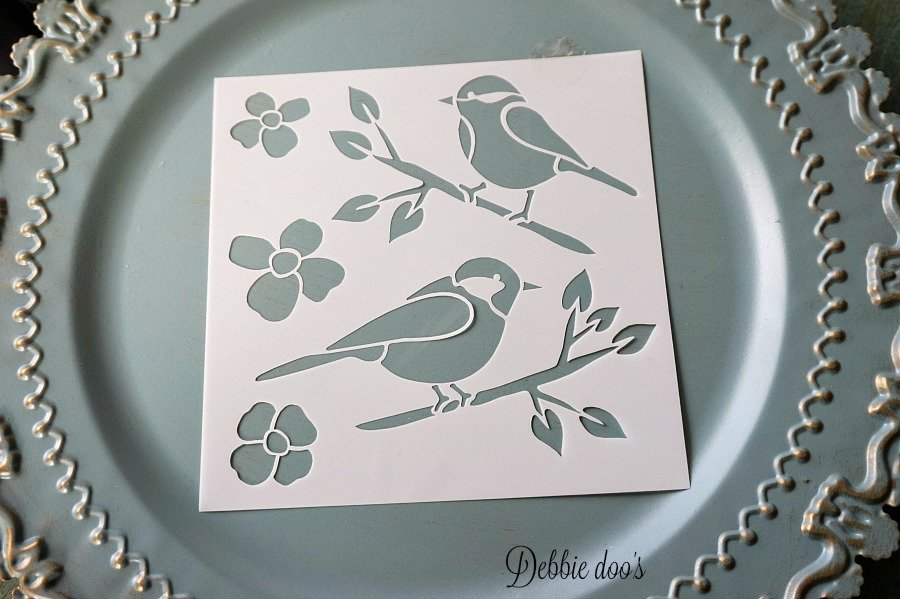 Bird stencil from Michaels