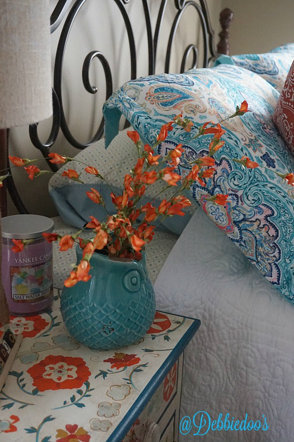 Colorful guest room changes on a small budget