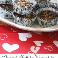 Caramel brownie Heath bar bites
