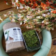 Wildflower burlap spring wreath