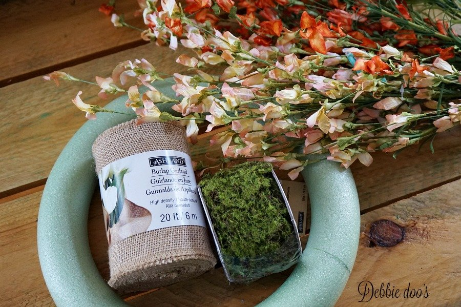 Foam and burlap spring wreaths