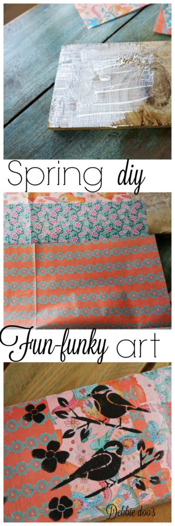 How to make your own funky fun Spring artwook sign