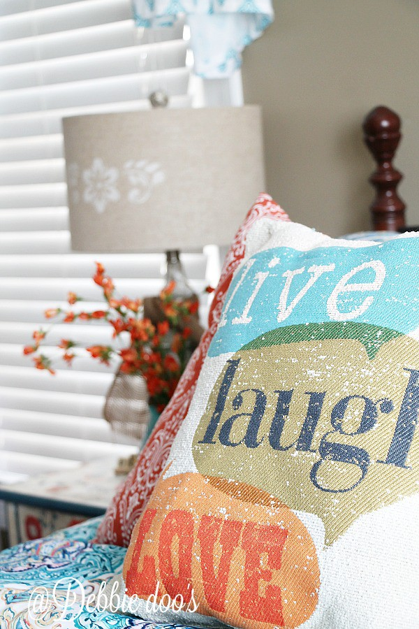 Live, laugh love pillow