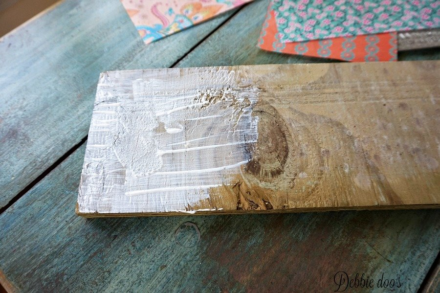 Mod podge on wood