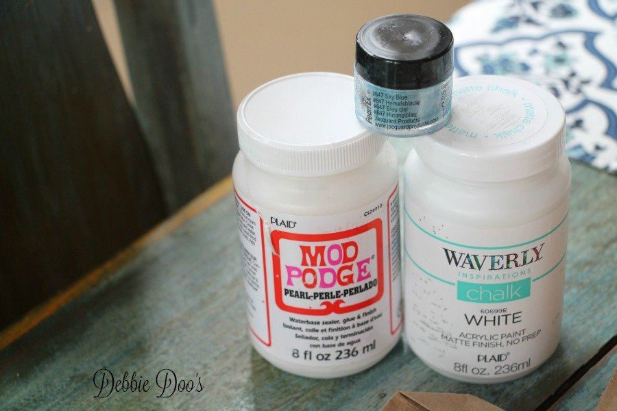 Mod podge pearl and waverly chalk paint supplies for crafting