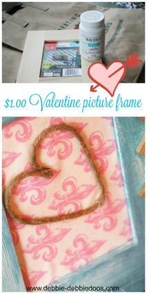 One dollar Valentine picture frame gift idea