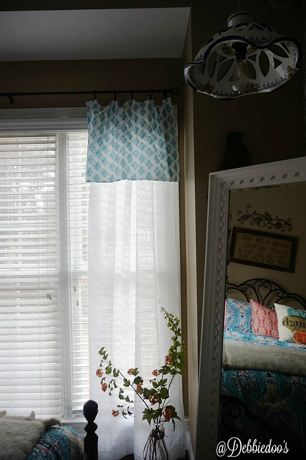 Sheer panels with a pillow case for valance