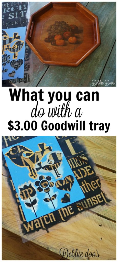 What you can do with a $3.00 goodwill ugly wood tray