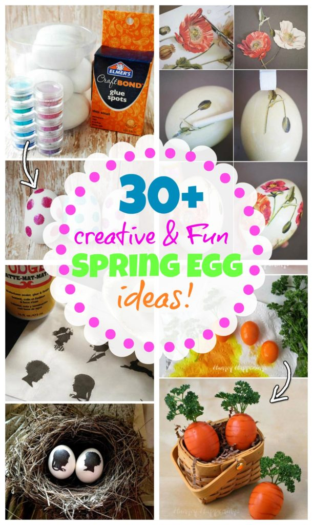 30+ Creative and fun Spring and Easter egg craft and more ideas