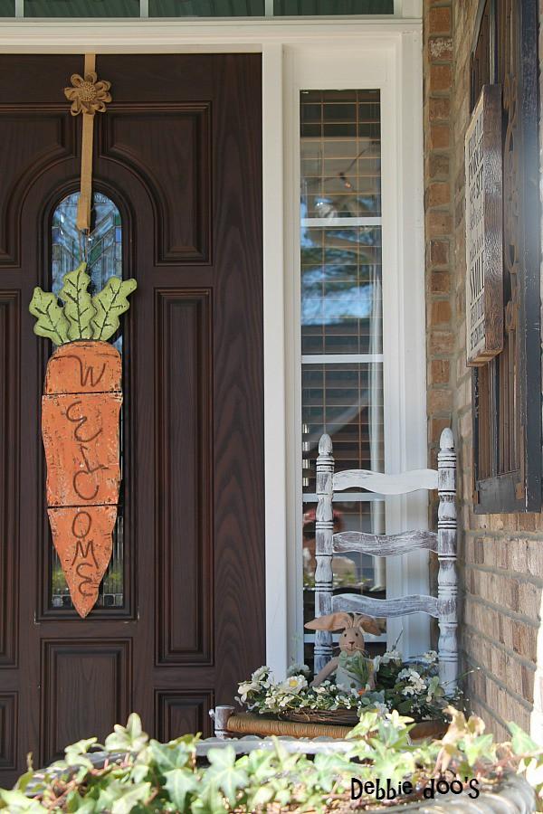 Spring porch decor