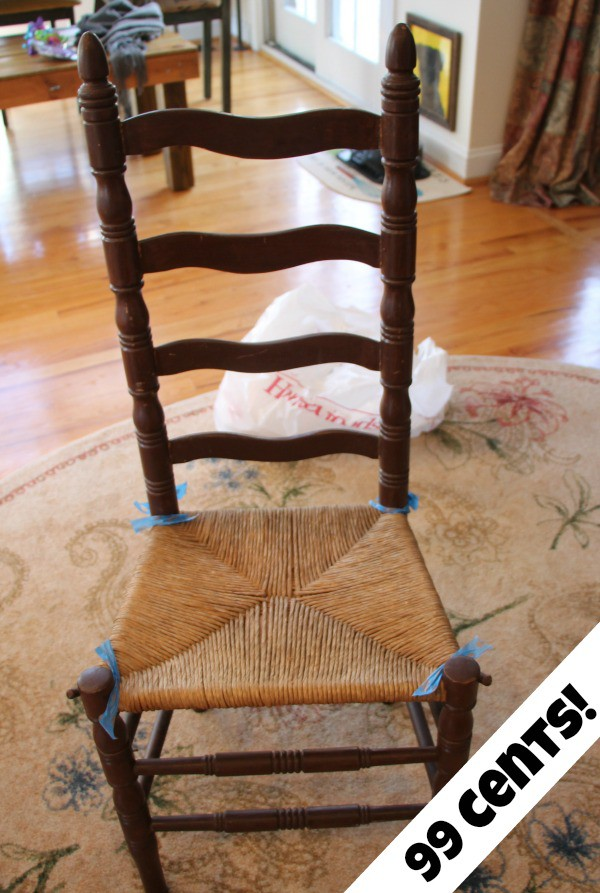 Thrift store chair for under a dollar makeover