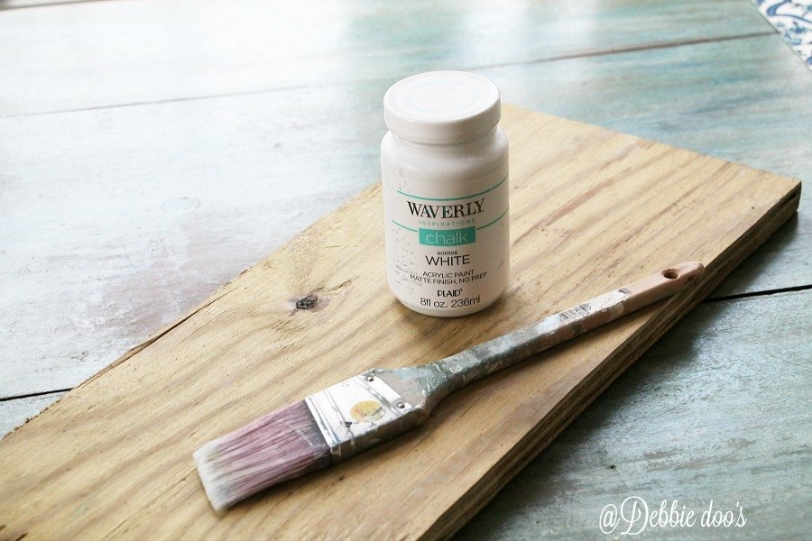 White chalk paint by waveryly painted on wood