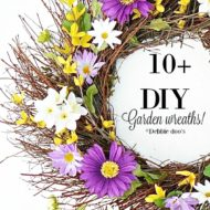 10+ diy garden wreath ideas