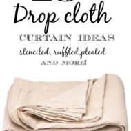 15+ Drop cloth curtain ideas