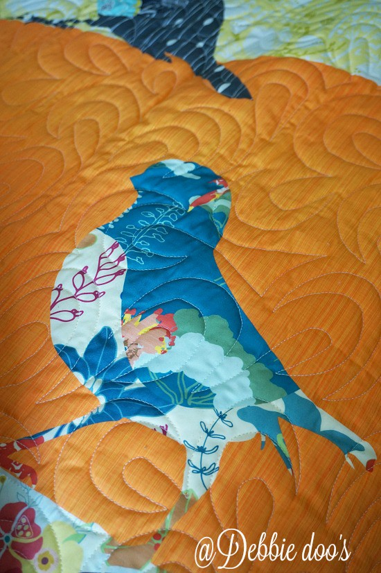 Bird quilt custom made