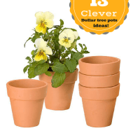 Clever dollar tree garden pot decorating ideas