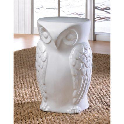 Ceramic owl stools