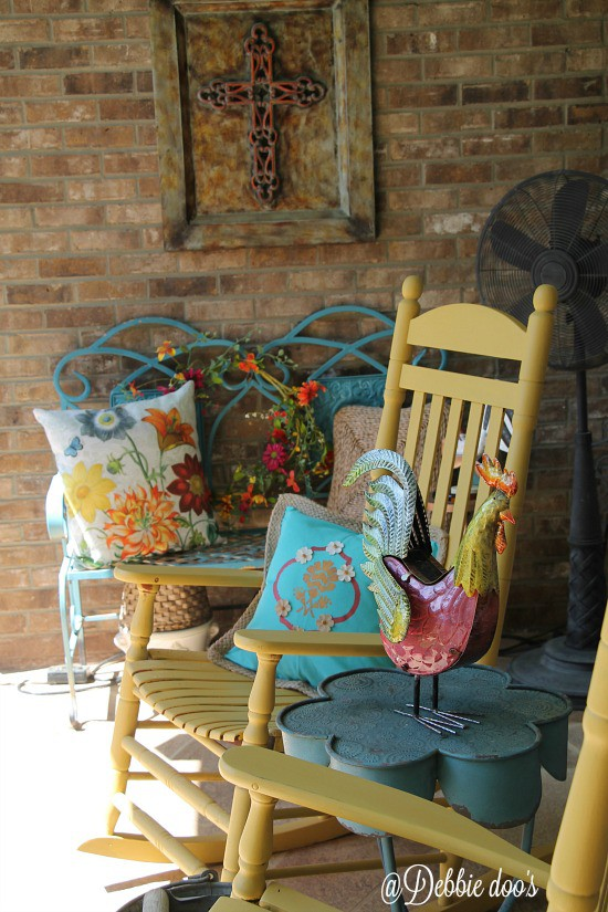 Happy spring/summer porch colorful decorating ideas