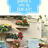 Patio and porch decorating and diy ideas!