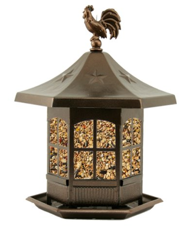 Rooster bird feeder