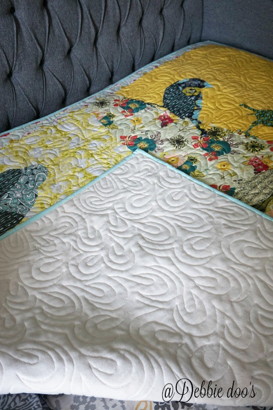 Soft lined quilted bird custome made quilt