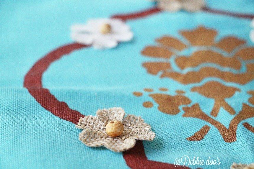 burlap flower embellishments