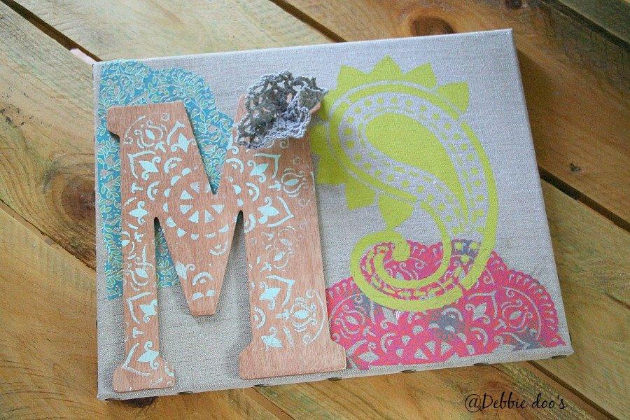 DIY linen canvas art