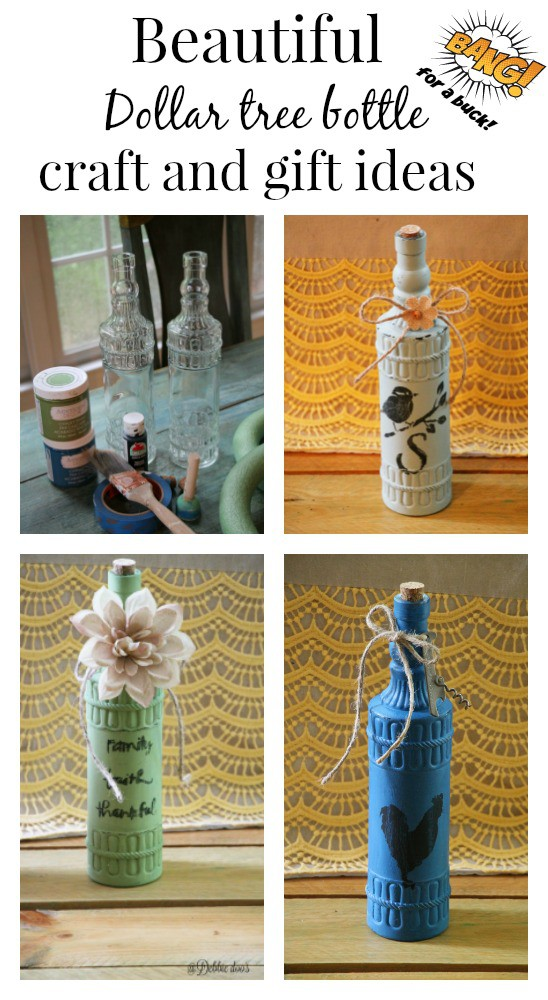 Dollar decorative bottle craft and gift ideas