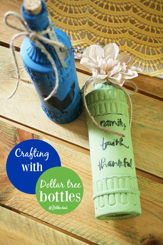 How to make decorative cute bottles from dollar tree
