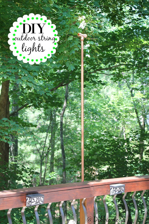 Diy Outside String Lights : Diy hanging outdoor string lights - Debbiedoos