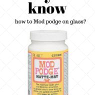 How to mod podge on glass