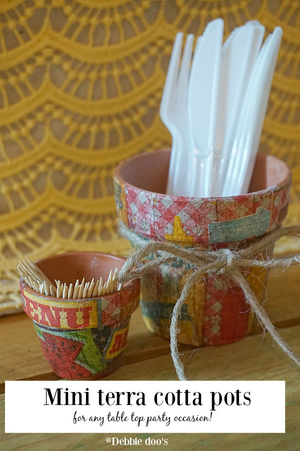 Mini terra cotta pots for any table top party occasion