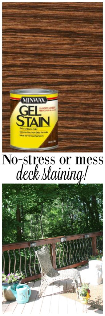 No stress or mess deck staining