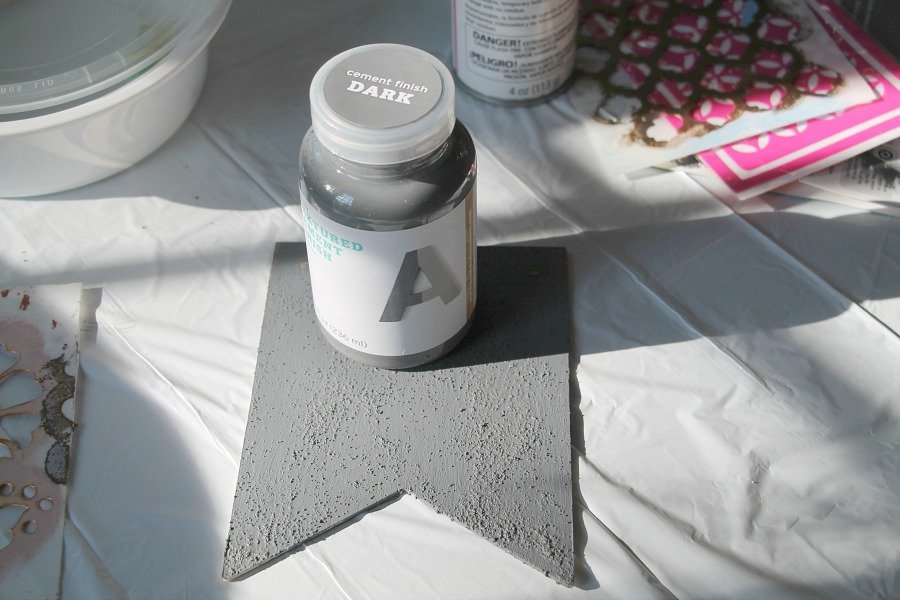 cement finish dark concrete paint