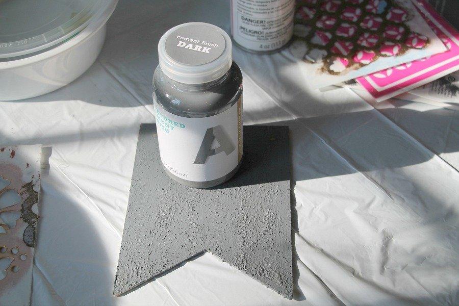 cement finish dark concrete paint