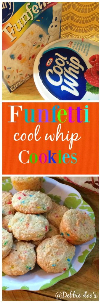 funfetti 3 ingredient cool whip cookies