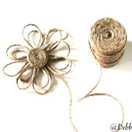 How to make a twine flower