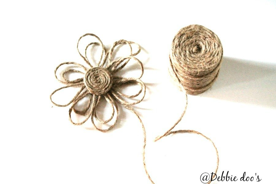 Learn how to make a twine flower
