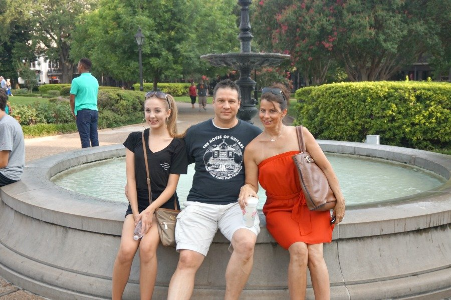 sister and family