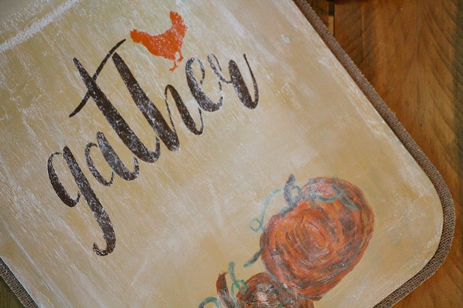 Chalkboard art with gather rooster stencil by Debbiedoo's