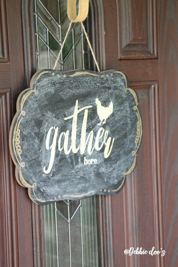 Chalkboard gather here stencil sign by Debbiedoo's