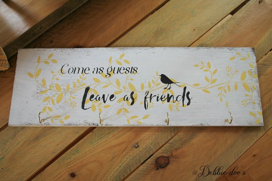 Come as guest, leave as friends stencil by Debbiedoo's