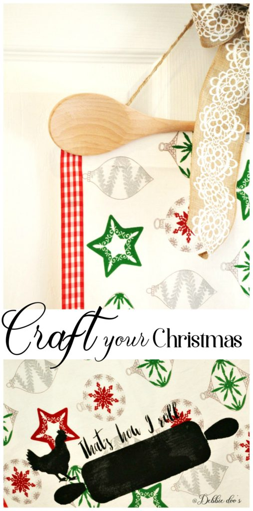 Craft your Christmas. How to make your own wall hanging. Perfect for gifts this year.