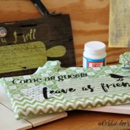 How to mod podge with fabric on canvas
