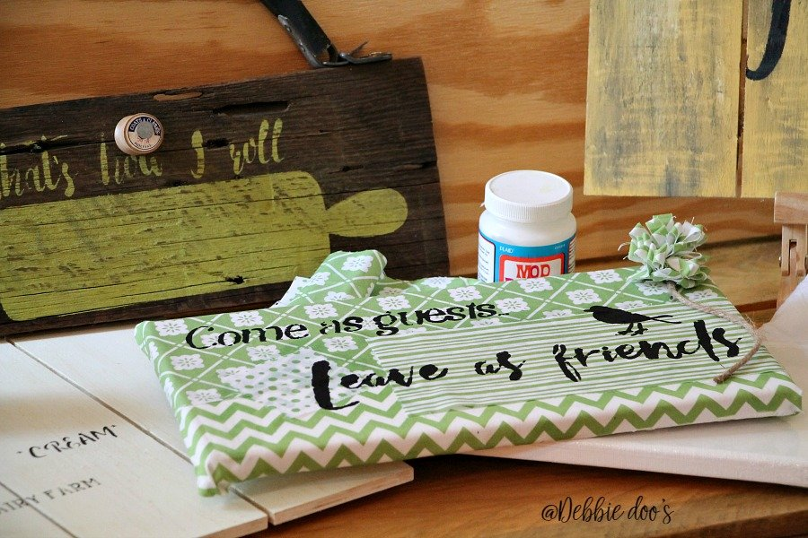 Crafting with Debbiedoo's stencil line