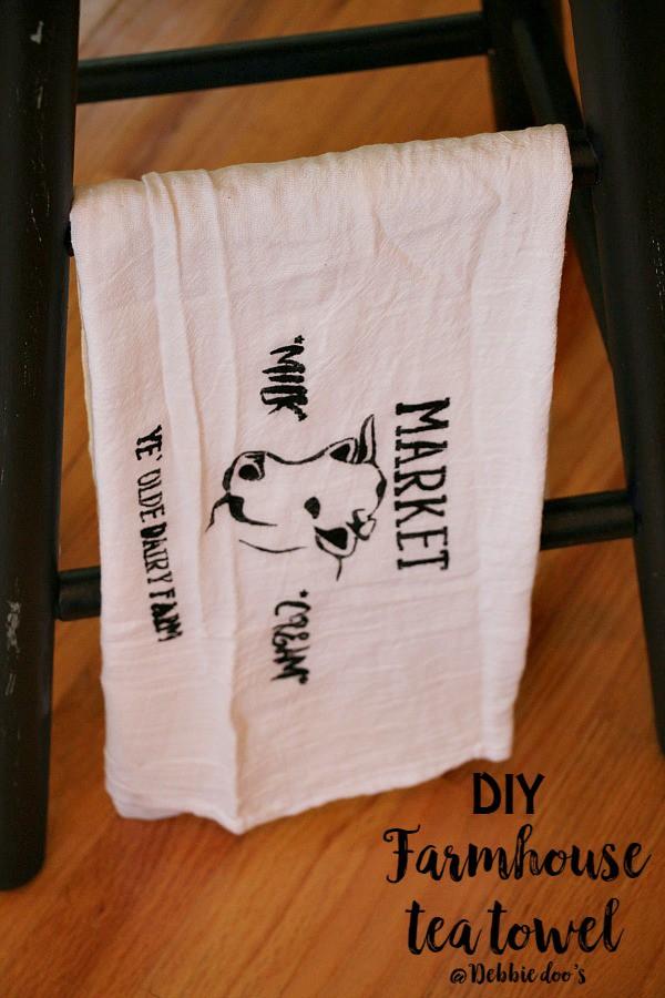DIY farmhouse tea towel