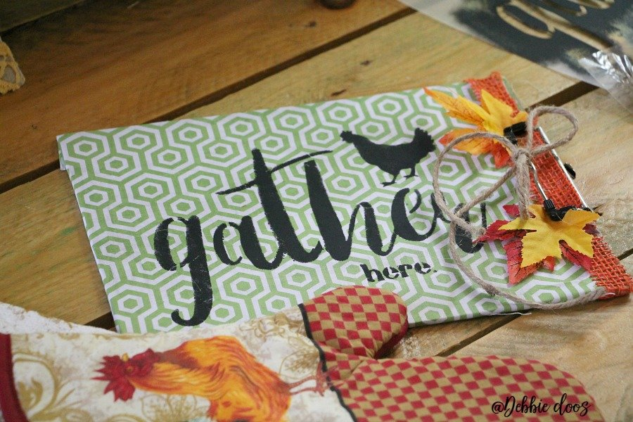 Dollar tree craft idea with a clip board