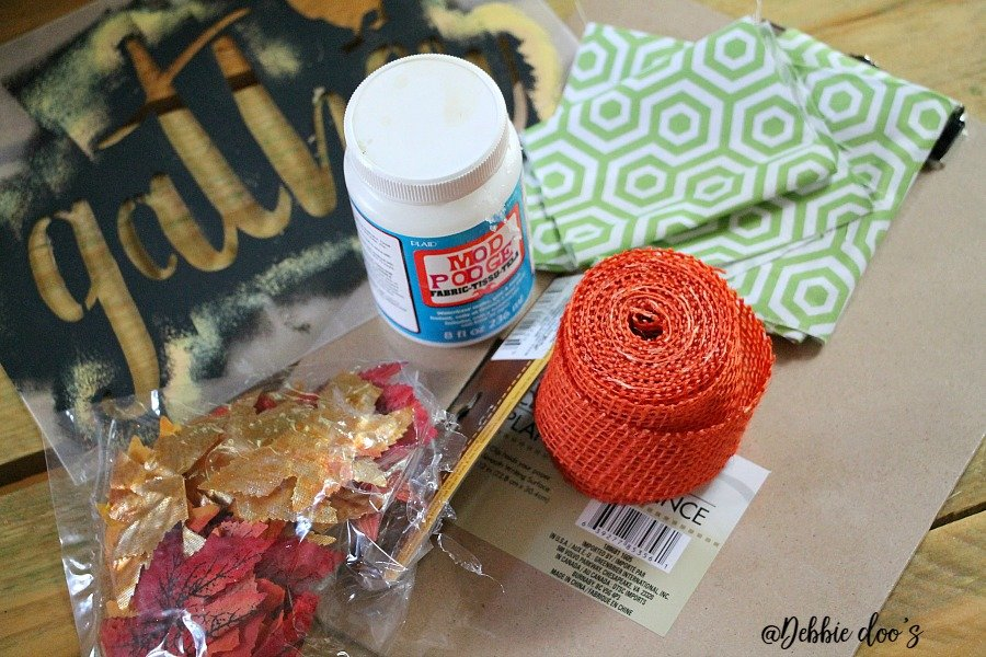 Dollar tree craft supplies for clipboard art